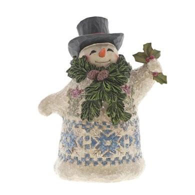 Heartwood Creek, Jim Shore, Winter Greetings Mini Victorian Snowman, Schneemann