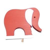 Elefant rot für Kerzenring groß