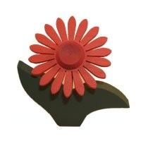 Gerbera rot, Kerzenring groß