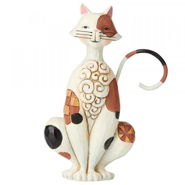 Heartwood Creek, Jim Shore, Spotted Mini Cat, Minikatze, Katze
