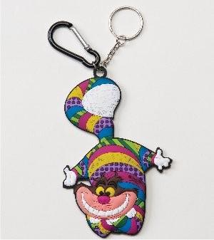 Romero Britto Pop Art aus Miami - Cheshire Cat Keyring / Grinsekatze Schlüsselanhänger
