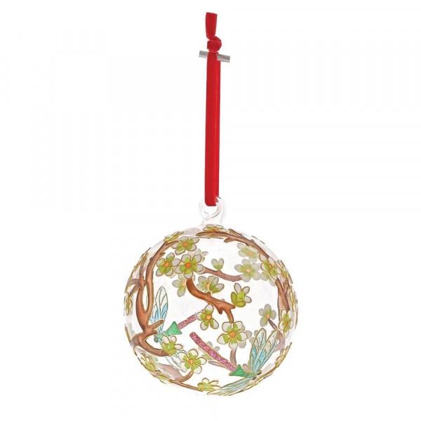 Enesco's Treasury of Ornaments, handbemalt, mundgeblasen, Delicate Dragonfly, Libelle, Glaskugel, Anhänger