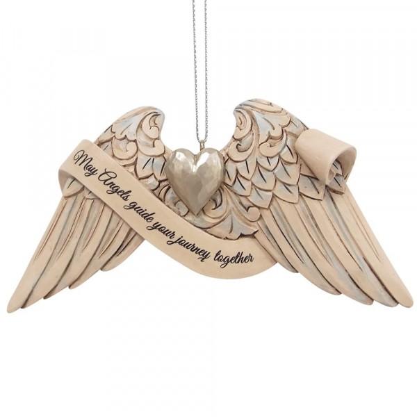 Jim Shore, Heartwood Creek, 6009575, Jim Shore Wedding Angel Wings, Engelsflügel Hochzeit, Volkskunst, Jim Shore Engel