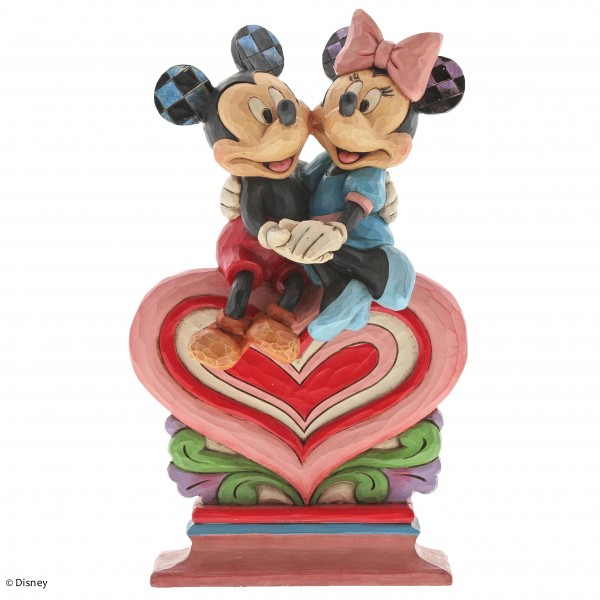 Disney Traditions, Jim Shore, Heart To Heart / Von Herz zu Herz, Mickey & Minnie, Micky & Minnie