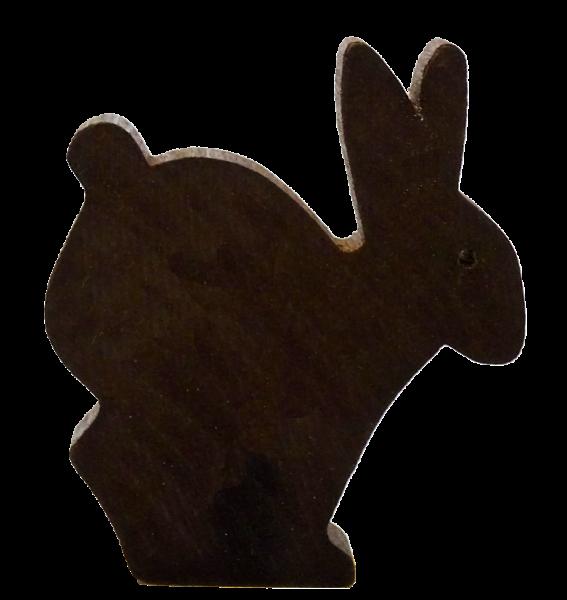 Sebastian Design, Candlering, Kerzenring, Kerzenringe, Skandinavischer Holzkranz, Skandinavische Kerzenringe, Hase, Osterhase, Osterhase in dunkelbruan, 46-214-127