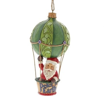 Heartwood Creek, Jim Shore, Santa in Hot Air Balloon Ornament, Weihnachtsmann, Anhänger