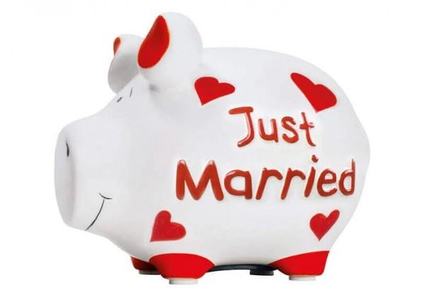 KCG Sparschweine, Best of Sparschwein, das Markenschwein, Kleinschwein, Sparschwein, Spardose, Sparbüchse, Wir sind das Schwein, Sparschwein Just Married, 101445, Geldgeschenk