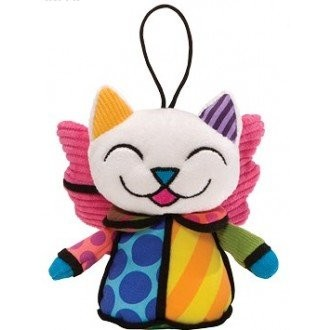 Romero Britto Pop Art aus Miami - Angel Cat Plush Ornament / Engel Katze Anhänger