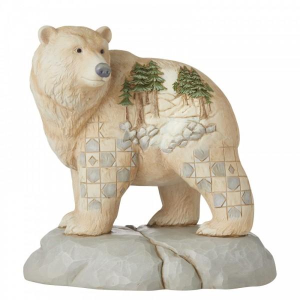 Heartwood Creek, Jim Shore, Wild and Free Bear, Wild und frei, Bär, White Woodland Collection, 6006582