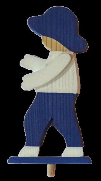 Sebastian Design, Candlering, Kerzenring, Kerzeringe, Holzkränze, Skandinavischer Holzkranz, Skandinavische Kerzenringe, Gänsepeter, Junge blau/weiß