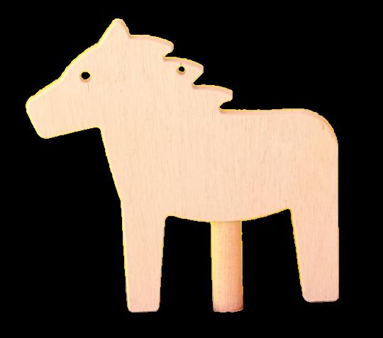 Sebastian Design, Candlering, Kerzenring, Skandinavischer Holzkranz, Skandinavische Kerzenringe, weißes Pferd, Pferd weiß, 10-522-102