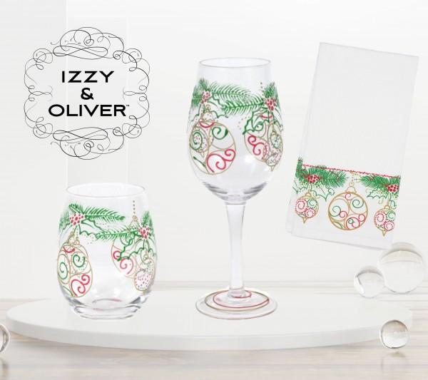 Izzy and Oliver, Trinkglas, Trinkgläser, Weinglas, Weingläser, Geschirrtuch, 6007002