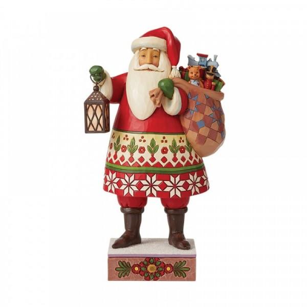 Jim Shore, Heartwood Creek, Jim Shore Weihnachten, 6008940, Santa with Lantern and Bag of Toys, Weihnachtsmann mit Laterne und Sack, Jim Shore Santa, Jim Shore Weihnachtsmann, Heartwood Creek Santa, Heartwood Creek Weihnachtsmann