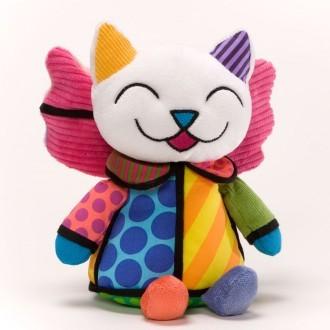 Romero Britto Pop Art aus Miami - Musical Angel Cat Plush / Plüsch Spieluhr - Engel Katze