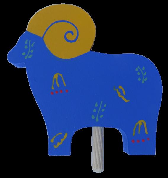Sebastian Design, Candlering, Kerzenring, Skandinavischer Holzkranz, Skandinavische Kerzenringe, Wider blau, 20-596-134