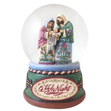 Heartwood Creek, Jim Shore, Praise The Newborn Savior Waterball, Schneekugel
