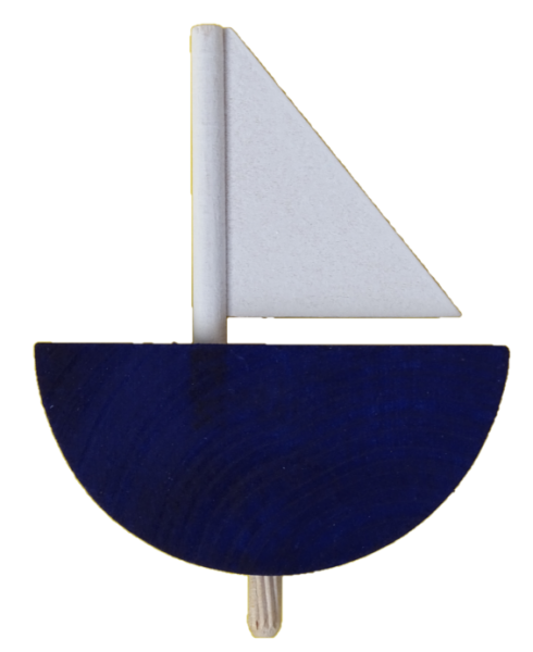 Sebastian Design, Candlering, Kerzenring, Skandinavischer Holzkranz, Skandinavische Kerzenringe, Segelschiff, blau, 46-549-130