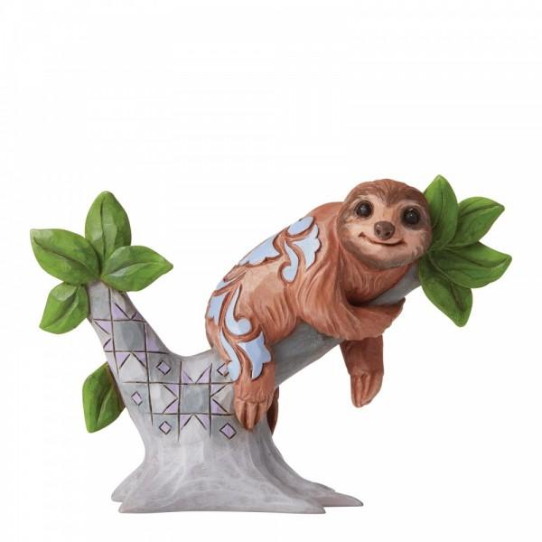 Heartwood Creek, Jim Shore, Sloth Mini Figurine, Faultier Minifigur, Don't hurry, be happy