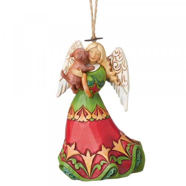Angel with Dog / Engel mit Hund Ornament