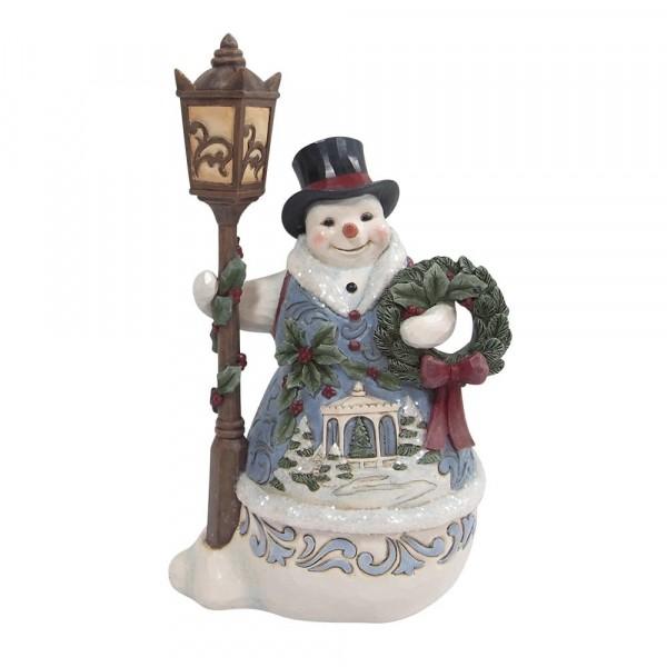 Jim Shore, Heartwood Creek, Jim Shore Weihnachten, 6009494, Snowman with Lamppost, Schneemann mit Laterne, Jim Shore Schneemann, Jim Shore Snowman, Heartwood Creek Snowman, Heartwood Creek Schneemann
