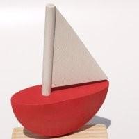 Schiff rot für Kerzenring groß