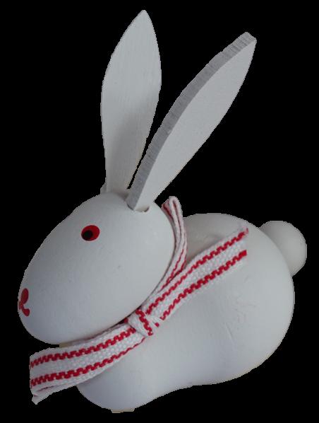 Sebastian Design, Kerzenringe, Steckfiguren, weißer Hase, liegend