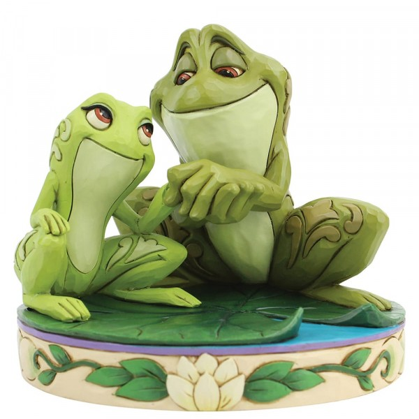 Disney Traditions, Jim Shore, Amorous Amphibians, Tiana and Naveen as Frogs, Tiana und Naveen als Frösche