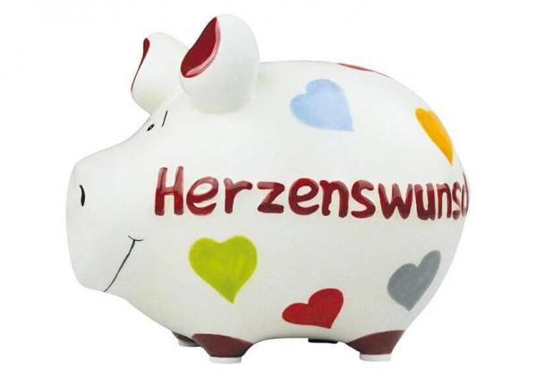 KCG Sparschweine, Best of Sparschwein, das Markenschwein, Kleinschwein, Sparschwein, Spardose, Sparbüchse, Wir sind das Schwein, Sparschwein Herzenswunsch, 101515, Geldgeschenk