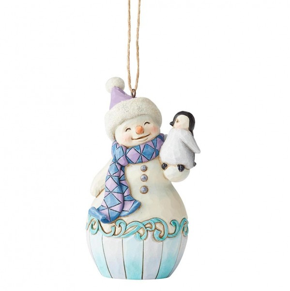 Heartwood Creek, Jim Shore, Snowman with Penguin, Schneemann mit Pinguin, Ornament, Anhänger