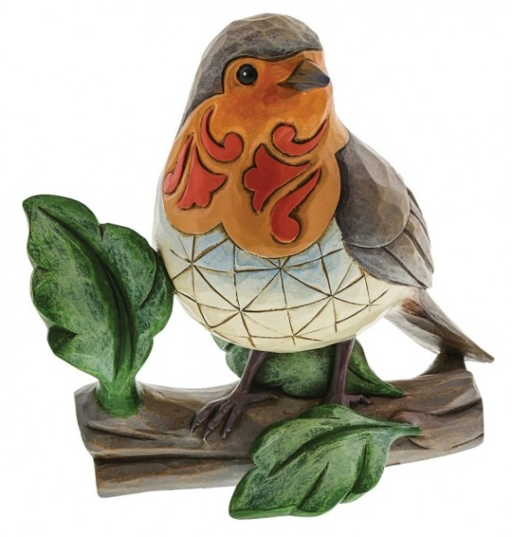 Jim Shore, Heartwood Creek, Jim Shore Heartwood Creek, Jim Shore Vögel, Rotkehlchen, Robin, A30717, When Robins Are Near Loved Ones, Jim Shore Birds