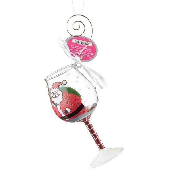 Lolita Glas, Lolita Gläser, Lolita Weinglas, Lolita Weingläser, Stuck Santa, Der Weihnachtsmann steckt fest Ornament, Anhänger, 6002993