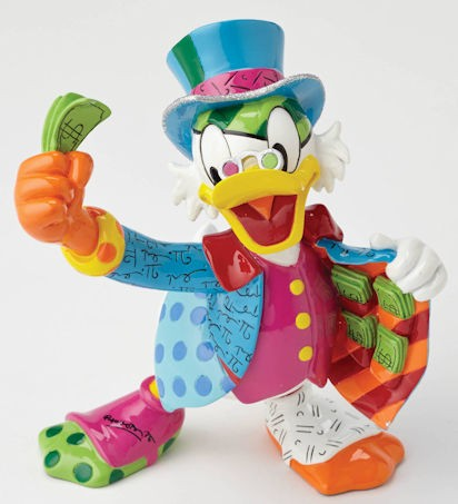 Romero Britto Pop Art aus Miami - Uncle Scrooge McDuck / Dagobert Duck