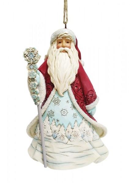 Jim Shore, Heartwood Creek, Jim Shore Weihnachten, 6009488, Santa with Snowflake Ornament, Weihnachtsmann mit Schneeflocke Weihnachtsanhänger, Jim Shore Santa, Jim Shore Weihnachtsmann, Heartwood Creek Santa, Heartwood Creek Weihnachtsmann