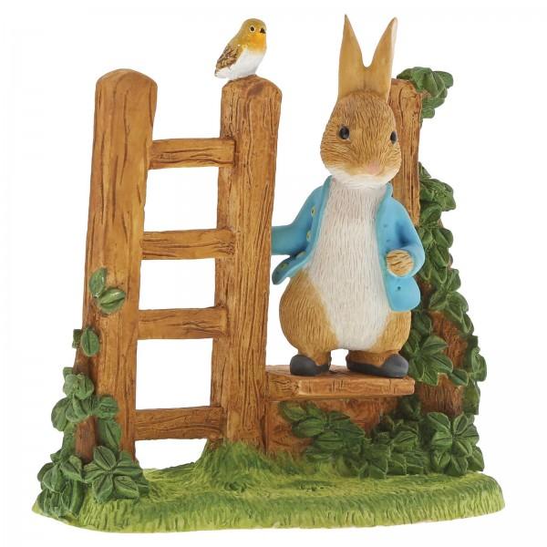 Beatrix Potter, Beatrix Potter Collection, Peter Rabbit, Benjamin Bunny, Flopsy, Jemima Puddle-Duck, Jeremy Fisher, A29835, Peter Rabbit on Wooden Stile