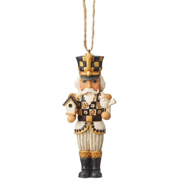 Heartwood Creek, Jim Shore, Black & Gold Nutcracker Ornament, Nussknacker Anhänger