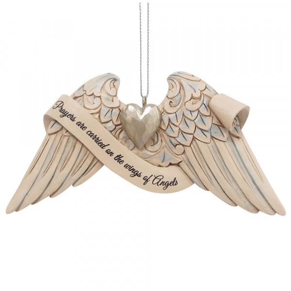 Jim Shore, Heartwood Creek, 6009576, Jim Shore Angel Wings Prayer, Engelsflügel Gebet, Volkskunst, Jim Shore Engel