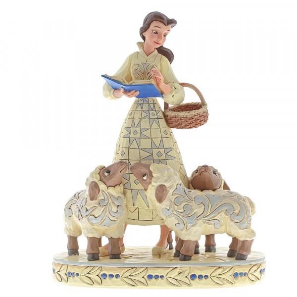 Disney Traditions, Jim Shore, Bookish Beauty Belle mit Schafen / Die Schöne und das Biest, Buchstäbliche Schönheit