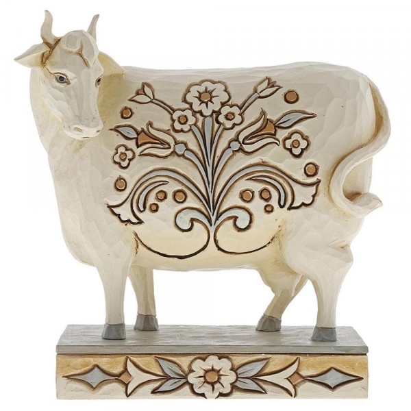 Heartwood Creek, Jim Shore, Beautiful Bessie, White Farmhouse Cow