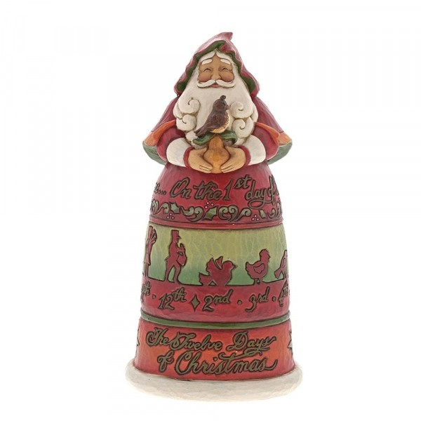 Heartwood Creek, Jim Shore, Twelve Days of Christmas Santa, Weihnachtsmann, 6001462