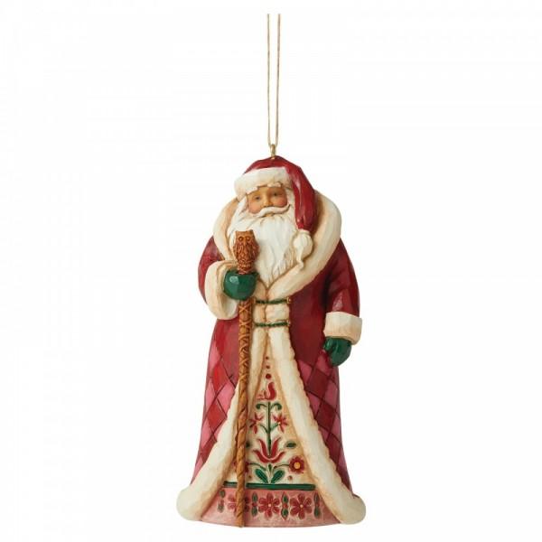Heartwood Creek, Jim Shore, Lapland Santa, Weihnachtsmann, Ornament, Anhänger, Weihnachtsanhänger, Tannenbaumanhänger, Christbaumanhänger, Regal Santa, Königlicher Weihnachtsmann
