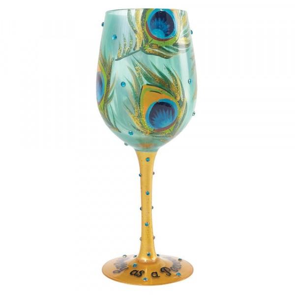 Lolita Glas, Lolita Gläser, Lolita Weinglas, Lolita Weingläser, Pretty As A Peacock, Hübsch wie ein Pfau