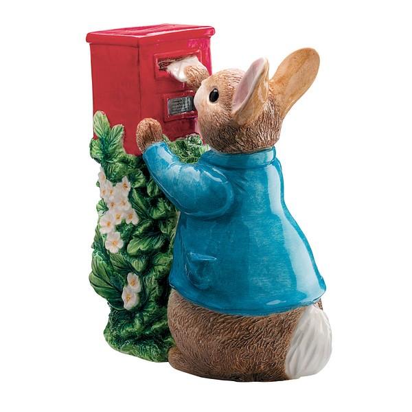 Beatrix Potter Collection, Beatrix Potter Spardose, A7170 Peter Rabbit Spardose, Peter Rabbit Posting A Letter Money Bank, Peter Hase Spardose