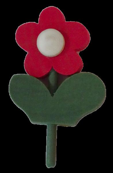 Sebastian Design, Kerzenring, Kerzenringe, Holzkränze, Candlering, skandinavische Kerzenringe, Blume mit Blatt, rot