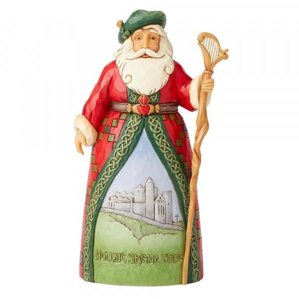 Heartwood Creek, Jim Shore, Around the World, Celtic Christmas Greetings, Irish Santa, Irischer Weihnachtsmann