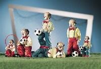 Gilde Handwerk, Gilde Clowns, Fussballer, Soccer, rot
