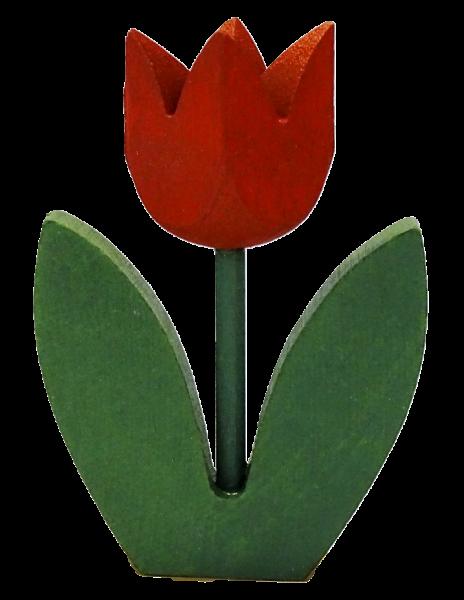 Sebastian Design, Candlering, Kerzenring, Kerzenringe, Skandinavischer Holzkranz, Skandinavische Kerzenringe, Tulpe, Tulpe mit 2 Blatt, Tulpe mit zwei Blättern, rote Tulpe, 46-682-120