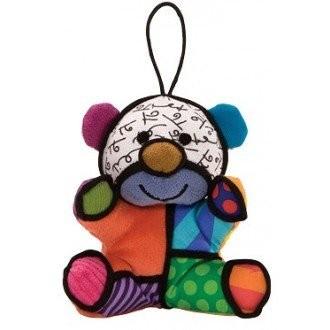 Romero Britto Pop Art aus Miami - Holiday Bear Plush Ornament / Bär Anhänger