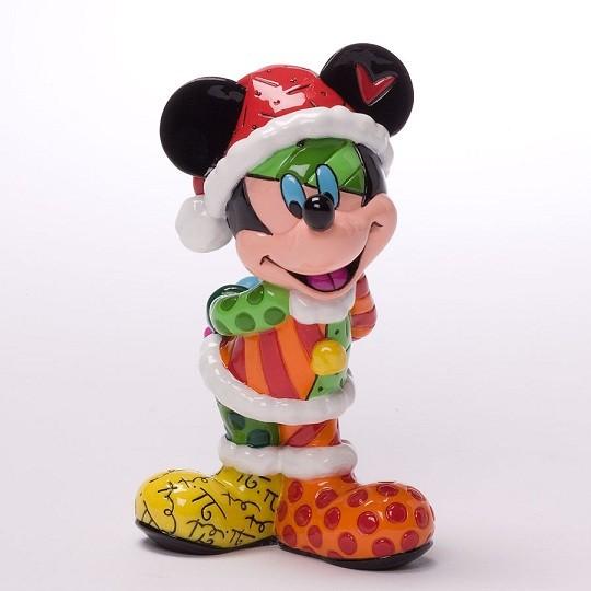 Romero Britto Pop Art aus Miami - Mickey Mouse Mini Santa, Christmas / Mini Micky Weihnachtsmann