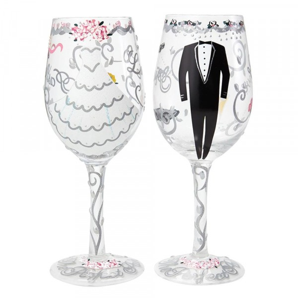 Lolita Weinglas, Lolita Weingläser, Lolita Gläser, Bride & Groom Wedding Gift Set, Braut & Bräutigam Hochzeitsgeschenkset