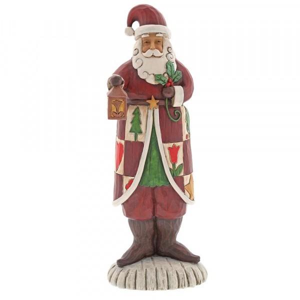 Heartwood Creek, Jim Shore, Folklore Santa with Lantern, Weihnachtsmann mit Laterne, 6001442